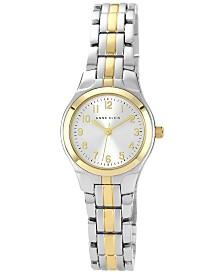 Anne Klein Women's Two Tone Bracelet Watch 28x26mm 10-5491SVTT