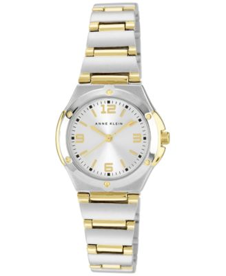 Image of Anne Klein Watch, Women's Two Tone Bracelet 28mm 10-8655SVTT