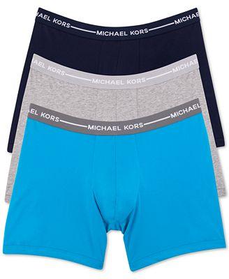 Michael Kors Men's Ultimate Cotton Stretch Boxer Briefs, 3-Pack