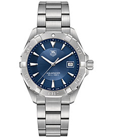 TAG Heuer Men's Swiss Aquaracer Stainless Steel Bracelet Watch 41mm WAY1112.BA0928