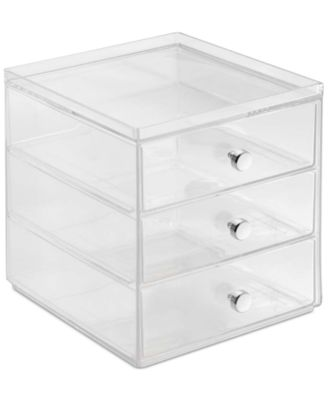 Interdesign 3Drawer Makeup Organizer Clear Cleaning