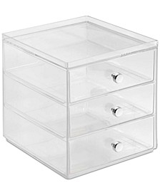 3-Drawer Makeup Organizer, Clear