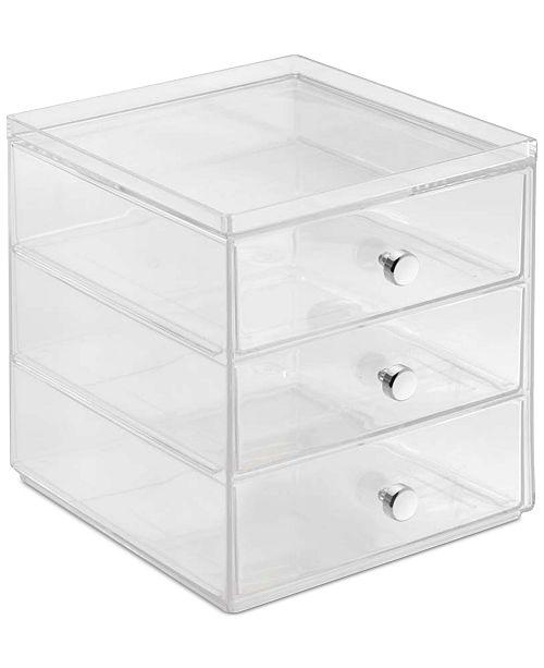 interdesign 3 drawer makeup organizer clear cleaning
