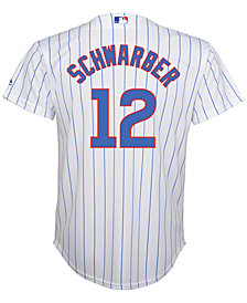 MajesticKyle Schwarber Chicago Cubs Replica Jersey, Big Boys (8-20)
