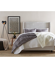 Loryan Nail Button Wingback Beds, Quick Ship