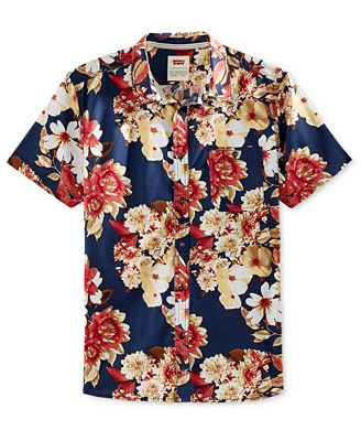 Levi's® Men's Floral-Print Short-Sleeve Shirt - Casual Button-Down ...