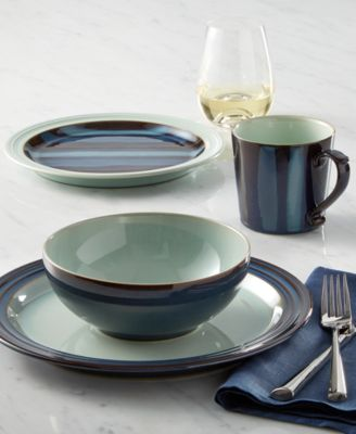 This item is part of the Denby Peveril Collection & Denby Dinnerware Peveril Collection Stoneware 4-Piece Place Setting ...