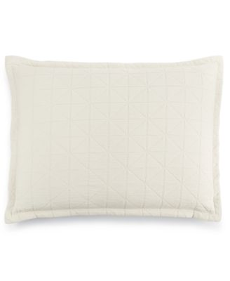 LAST ACT!  Modern Airbrush Geo Quilted Standard Sham, Created for Macy's
