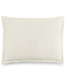 LAST ACT! Hotel Collection  Modern Airbrush Geo Quilted Standard Sham, Created for Macy's