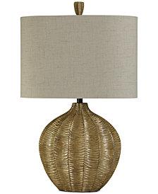StyleCraft Georgian Silver Finish Contemporary Table Lamp