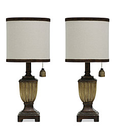 StyleCraft Set of 2 Saratoga Finish Traditional Mini Table Lamps