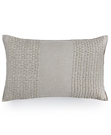 "Hotel Collection Eclipse Embroidered Stripe 12"" x 22"" Decorative Pillow, Created for Macy's"