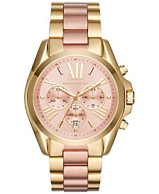 Michael Kors Women's Chronograph Bradshaw Two-Tone Stainless Steel Bracelet Watch 43mm MK6359