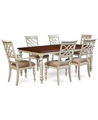 windward 7-pc. dining set (dining table, 4 side chairs & 2 arm