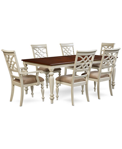 Windward 7 Pc Dining Set Table 4 Side Chairs 2 Furniture