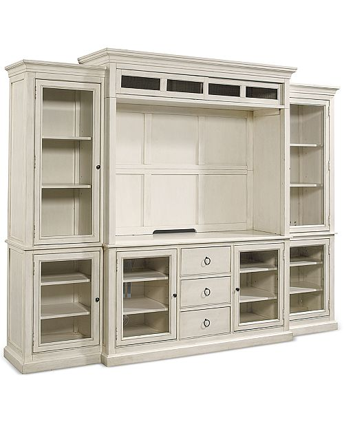 Macys Furniture Clearance Center: Furniture Sag Harbor White Home Entertainment Collection