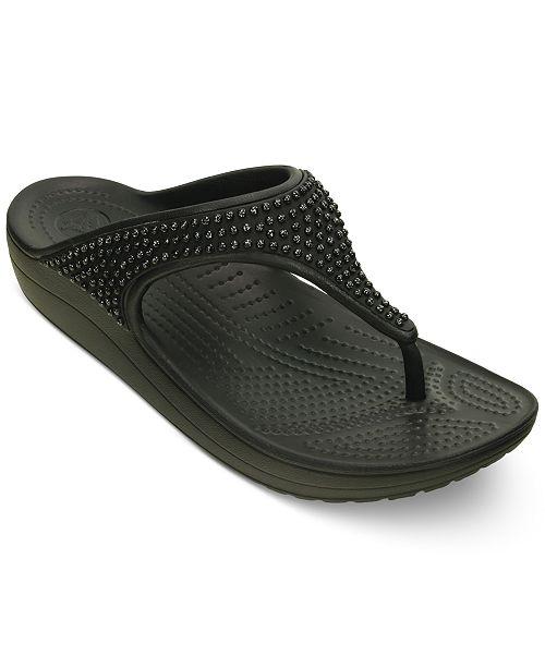 c9d87d48017e Crocs Women s Sloane Diamante Flip-Flops  Crocs Women s Sloane Diamante Flip-  ...