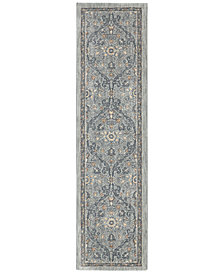 "Karastan Euphoria Galway Willow Grey 2'4"" x 7'10"" Runner Rug"
