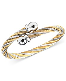 CHARRIOL Unisex Celtic Two-Tone Cable Bangle Bracelet