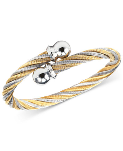 CHARRIOL Women's Celtic Two-Tone PVD Stainless Steel Cable Bangle Bracelet
