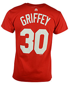 Majestic Men's Ken Griffey Sr. Cincinnati Reds Cooperstown Player T-Shirt