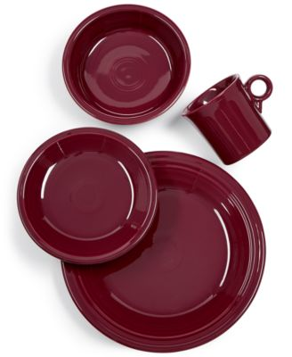 Fiesta Claret 4-Pc. Place Setting  sc 1 st  Macy\u0027s & Dinnerware \u0026 Tableware Clearance - Macy\u0027s