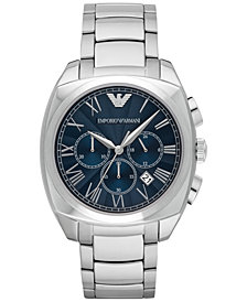 Emporio Armani Men's Chronograph Stainless Steel Bracelet Watch 44mm AR1938