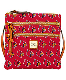 Dooney & Bourke Louisville Cardinals Triple Zip Crossbody Bag