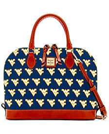 Dooney & Bourke West Virginia Mountaineers Zip Zip Satchel
