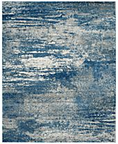 CLOSEOUT! Safavieh Evoke EVK272A Navy/Ivory Area Rugs