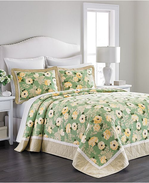 Martha Stewart Collection  100% Cotton Old World Rose Full Bedspread, Created for Macy's