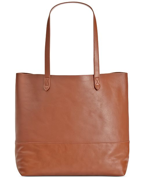 Giani Bernini Leather Commuter Tote, Created for Macy's