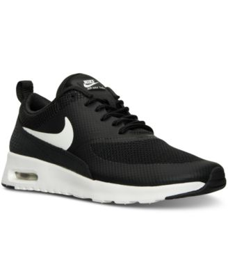 womens nike air max thea running shoes black and white