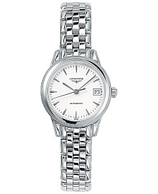 Longines Women's Swiss Automatic Flagship Stainless Steel Bracelet Watch 26mm L42744126