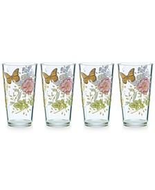 Butterfly Meadow Collection Acrylic Highball Glasses, Set of 4