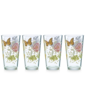 Lenox Butterfly Meadow Collection 4-Pc. Highball Drinkware S