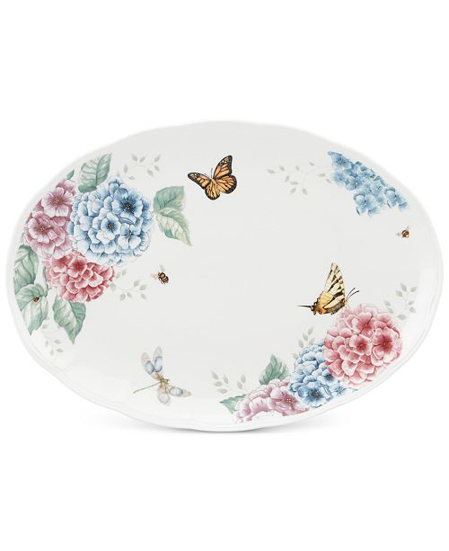 Lenox Butterfly Meadow Hydrangea Collection Oval Platter