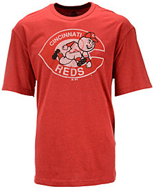 Majestic Men's Cincinnati Reds Leadoff Cooperstown T-Shirt
