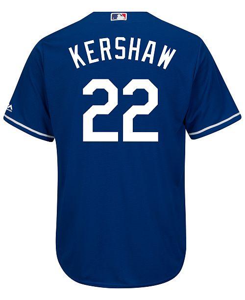 99364012a Majestic Men s Clayton Kershaw Los Angeles Dodgers Replica Jersey ...