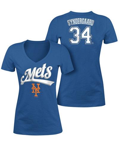 5th & Ocean Women's Noah Syndergaard New York Mets Foil Player T-Shirt