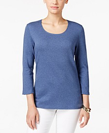 Scoop-Neck Top, Created for Macy's, Regular & Petite