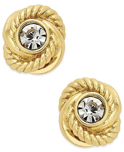 64d7a6f12441 kate spade new york Infinity & Beyond Crystal Knot Stud Earrings ...