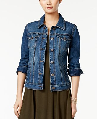 Style & Co. Denim Jacket, Created for Macy's - Jackets - Women ...
