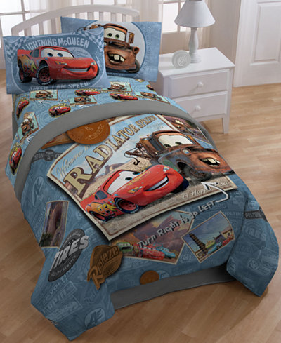 Disney 174 Cars Tune Up 7 Pc Comforter Sets Bed In A Bag