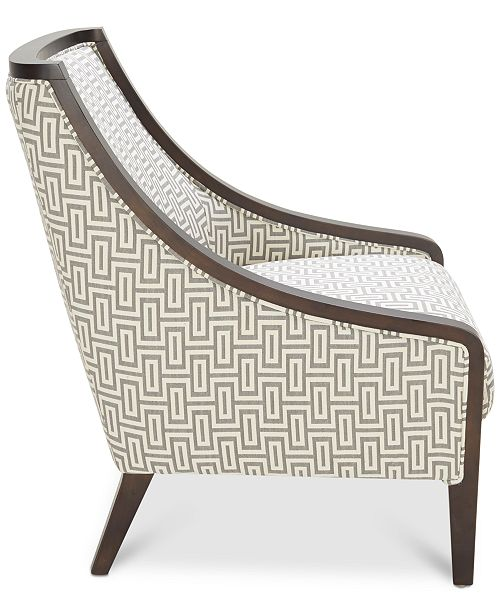 Furniture Landor Printed Fabric Accent Chair Amp Reviews