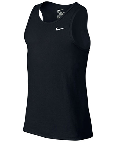 Nike men 39 s dri fit tank top t shirts men macy 39 s for Best athletic dress shirts
