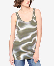 Motherhood Maternity Striped Tank Top