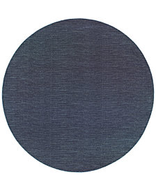 "Oriental Weavers Richmond Casual Navy/Grey 7'10"" Round Rug"
