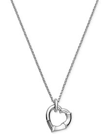 Gucci Women's Sterling Silver Heart Pendant Necklace YBB39339500100U
