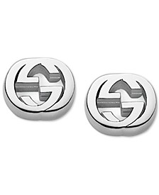 Women's Sterling Silver Interlocking G Stud Earrings